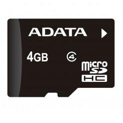 Memoria Micro SDHC Adata 4Gb Clase 4 Con Adaptador